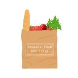 Organic food paper bag Royalty Free Stock Photo