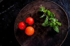 Organic Food Photography - Tomatoes, Mint and Red Beet. Tomatoes, Mint and Red Beet Royalty Free Stock Image