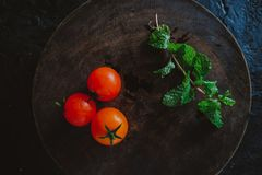 Organic Food Photography - Tomatoes, Mint and Red Beet. Tomatoes, Mint and Red Beet Stock Photos