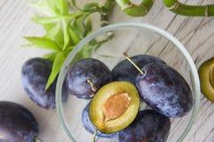 Organic food: plums Stock Photo