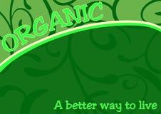 Organic food poster banner Stock Photos
