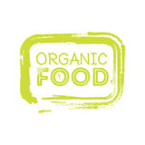 Organic food rubber stamp Royalty Free Stock Photos