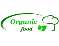 Organic food sign Stock Photos