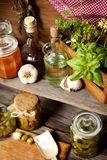 Organic food and spices Stock Photography