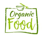 Organic food sticker. Vector illustration for graphic and web design Stock Photography