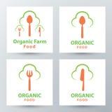 Organic food symbol icon Stock Photo