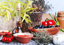 Organic food. On a table Royalty Free Stock Image