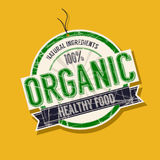 Organic food tag. Organic food product tag Royalty Free Stock Image