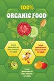 Organic food template Stock Photos