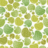 Organic food theme seamless background, Apples seamless pattern, Stock Photography