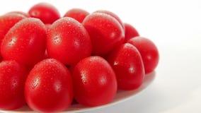 Organic food, tomatoes stock video footage
