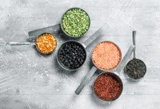 Organic food. Various legumes stock images