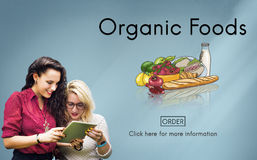 Organic Foods Ecological Nutrition Tasteful Nature Concept royalty free stock images