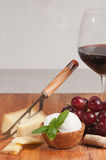 Organic foods for a wine tasting event Stock Image