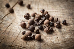 Organic fragrant black pepper. allspice Royalty Free Stock Photography