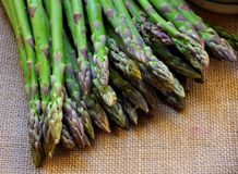 Organic fresh asparagus Stock Image