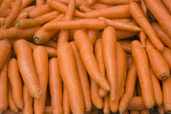 Organic and fresh carrots in the bazaar stock photos