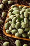Organic Fresh Green Almonds Stock Images