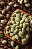 Organic Fresh Green Almonds Stock Photos