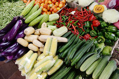 Organic Fresh Healthy Vegetables / Food Background Royalty Free Stock Photos