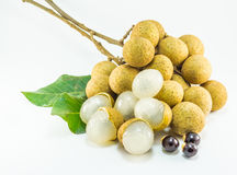 Organic fresh longan isolated picture  on white background Royalty Free Stock Photos
