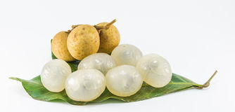 Organic fresh longan  picture  on white background Stock Photography