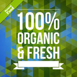 Organic fresh natural food vector poster. Royalty Free Stock Photography