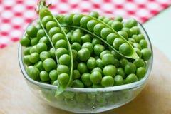 Organic fresh peas Stock Images