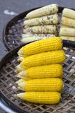 Organic, fresh, sweet corn for sale at a local farmers market in Thailand Royalty Free Stock Photo