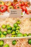 Organic fresh tomatoes from mediterranean farmers market in Prov Stock Photo
