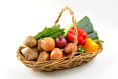organic fresh vegetable in a basket Royalty Free Stock Photos