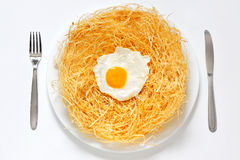 Organic fried eggs Royalty Free Stock Photos