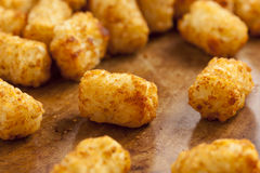 Organic Fried Tater Tots. Made from fried potato Stock Photo