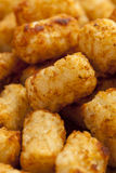 Organic Fried Tater Tots. Made from fried potato Stock Images