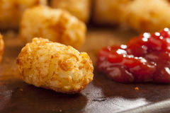 Organic Fried Tater Tots. Made from fried potato Stock Photos