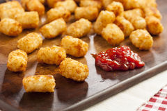 Organic Fried Tater Tots. Made from fried potato Royalty Free Stock Photo