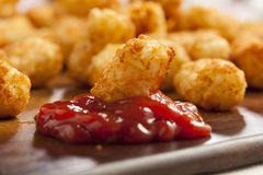 Organic Fried Tater Tots. Made from fried potato Stock Photography