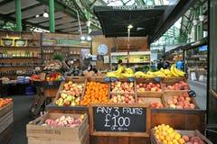 Organic fruit at the Borough Market in London, Uk Royalty Free Stock Photos