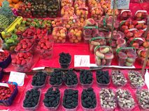 Organic fruit market in Palermo , Italy Royalty Free Stock Photography