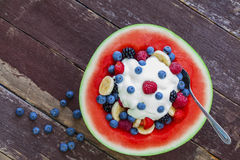 Organic fruit salad Royalty Free Stock Images