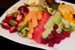 Organic fruit salad. Fruit salad as vegetarian food for healthy life Stock Images