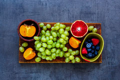 Organic fruit selection Royalty Free Stock Photography