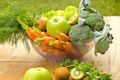 Organic fruit and vegetable Stock Photography