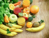 Organic fruit and vegetable like ingredients of healthy drink - beverages. Healthy eating - organic fruit and vegetable like ingredients of healthy drink Stock Image