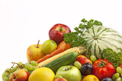 Organic fruit and vegetables Royalty Free Stock Photos