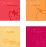 Organic fruits. Illustration of a organic fruit background logo Royalty Free Stock Photography