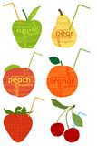 Organic fruits. Concept was created with typographic design Royalty Free Stock Photos