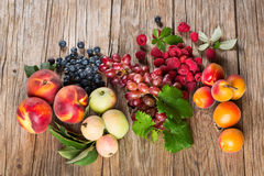 Organic fruits and berries Royalty Free Stock Images