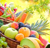 Organic fruits - closeup Stock Photos