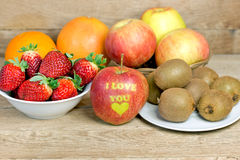 Organic fruits Stock Image